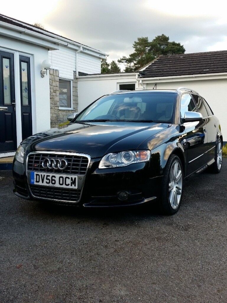 2006 audi a4 b7 s4 quattro 4 2 v8 estate manual black. Black Bedroom Furniture Sets. Home Design Ideas