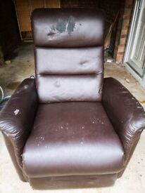 Faux Leather fully reclining chair