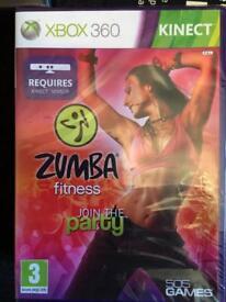 Sealed Xbox 360 Zumba Fitness Kinect Game