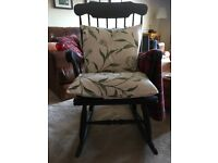 Black painted rocking chair for sale
