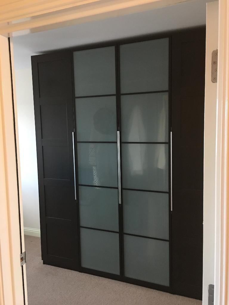 Ikea pax bergsbo wardrobe unit black brown in stirling for Ikea wardrobes pax