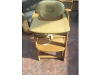 Mama's & Papa's wooden high chair to toddler chair