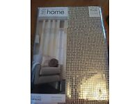 Brand new cream and gold sequin curtain 90x90