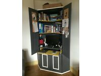 Painted Ikea Alve Corner Desk Cupboard Workstation £90 ono