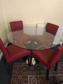 Dinner table with 4 chairs