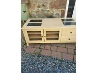 TV stand/storage comes with stone tiles