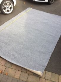 2 Brand New off cuts of grey (Colour: Sharp Steel) carpet