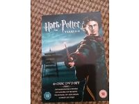 4 disc dvd boxset of the first four Harry Potter movies, brand new and unwatched