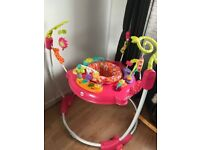 Fisher Price Pink Petals Jumperoo - Excellent Condition , Hardly used . Pet & Smoke free home