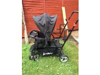 Joovey sit & stand tandem double buggy