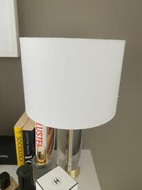 2 white lampshades