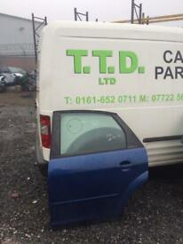 Ford Focus 2007 rear doors in blue