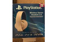 PlayStation 4 PS4 stereo headset 2.0 7.1 surround sound