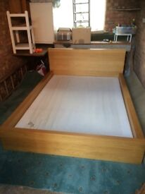 Double Ikea malm with additional sultan spung base for mattress