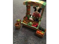 Sylvanian families cow and market stall