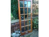 Glass Panelled Hardwood Door