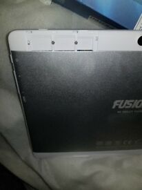 fusion5 the tablet is free it works perfectly it is new it works on what I feel