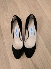 Jimmy Choo stylish black suede heels