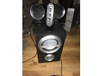 Sony iPod active subwoofer and Speakers