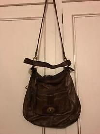 Authentic leather fossil bag