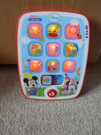 Disney Baby Mickey First Tablet by Clementoni - English & French IMMACULATE & fully working! BARGAIN