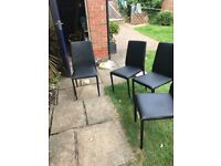 2 stackable dining chairs