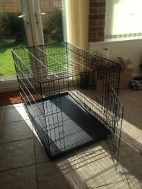 Extra Large Dog crate cage bed