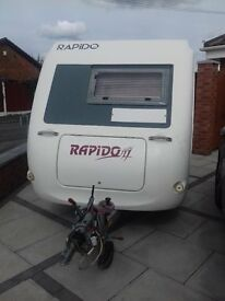 VERY RARE RAPIDO CLUB 30 TDI POP TOP 1996 SPEC MINT CONDITION 2/3 BERTH FITS IN YOUR GARAGE.