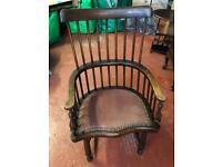 Antique Bentwood Captains Chair