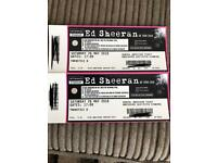 2 x Ed Sheeran tickets