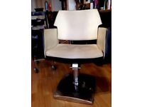 3 matching barber chairs