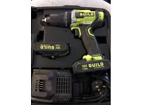 Brand new guild brushless 18v cordless hammer drill with 2 batteries and charger boxed
