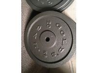 20kg golds gym cast iron weight plate 6 available
