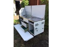 Stand alone camping kitchen, suit camper or horsebox conversion. Hob, grill, sink and drainer.