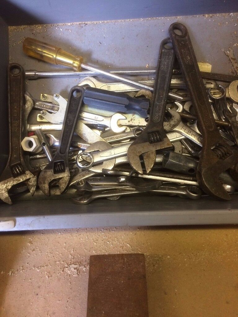 A selection of spanners, screw drivers and pliers