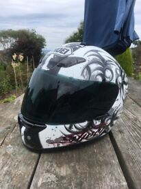 Shoei XR1000 motorcycle helmet size small, 2 visors& anti fog lens