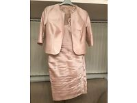 Designer dress by John Charles London.Worn once,colour blush,size 10/12,absolute bargain at £400