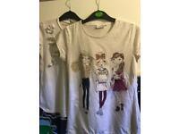 Two girl white shirts
