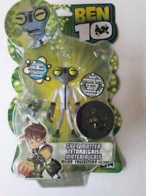 "Brand new and sealed Ben 10 10cm / 4"" Greymatter"