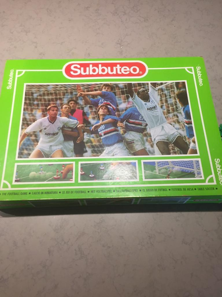 Original subbuteo set with scoreboard and outer fencing
