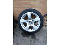 "2 x BMW Alloy wheels with tyres, 17"", 5 x 120, style 157, ET34"