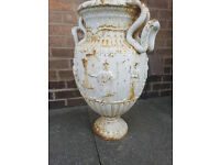 antique greek garden pot.