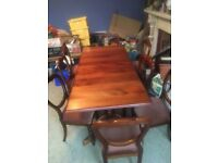 Solid wood great quality Dinning table and 8 chairs