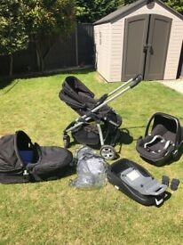 I Candy Cherry travel system with maxi cosi car seat and isofix base