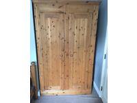 Solid wood wardrobe.