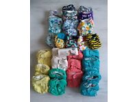 Reusable nappies cloth nappies various brands - preloved