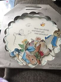 Peter rabbit cake stand and bunting