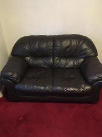 Two Seater Leather Settee sofa