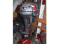 Suzuki DT9.9 2 stroke outboard tiller steer boat engine longshaft