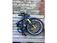 Folding bike B'twin fully working 100 ono . Great bicycle for commuting